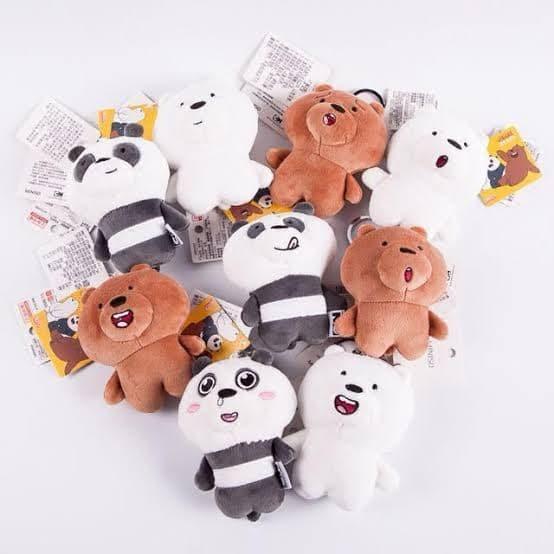 Foto Produk Miniso Boneka We Bare Bears gantungan kunci hiasan plush charm dari HooneyBee Shop