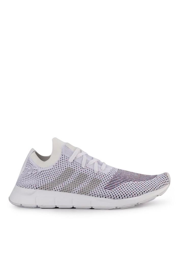 c08c8660a Sepatu Adidas Swift Run Primeknit Originals Men Sneakers - White Grey