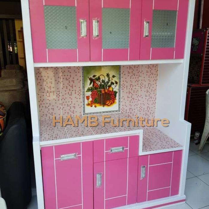 Jual Rak Dapur Lemari Dapur Kitchen Set Modern Hijau Muda Kab Kuningan Hamb Furniture Design Tokopedia