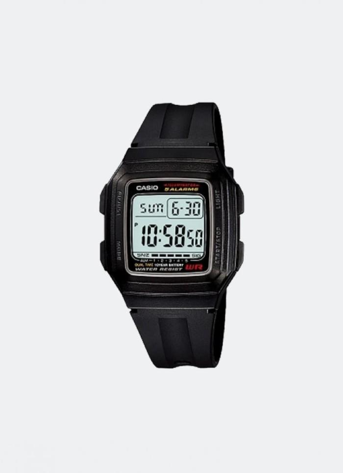harga Casio f-201wa-1adf - jam tangan unisex - hitam Tokopedia.com