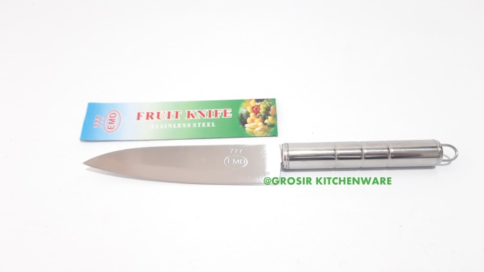 "Pisau Dapur 5"" Inch/ Chef Knife Gagang Stainless Steel Lancip"