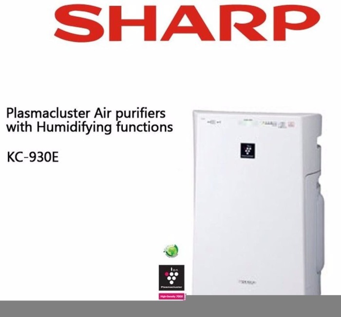 Original Hepa Filter Debu Sharp Air Purifier KC 930Y 930Y FU Z31Y Z3