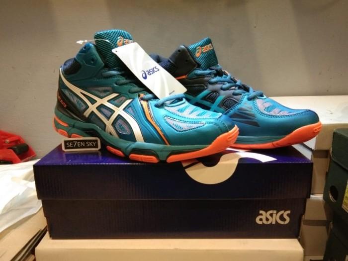 Jual Sepatu Asics Gel Volley Elite Navy Blue white orange. sepatu ... 3fad8bafa9