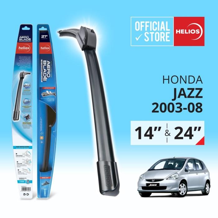 harga Wiper honda jazz (2 pcs) thn. 2003-2008 ke atas uk. 14  & 24  helios Tokopedia.com