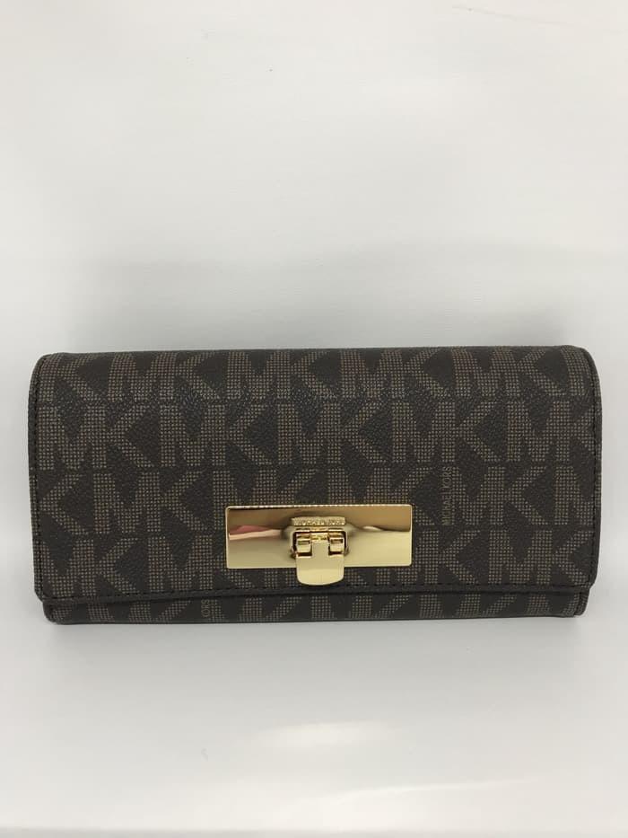 2c88f2a4897d Jual Michael Kors Callie Wallet Signature Brown Cherry Dompet MK ...