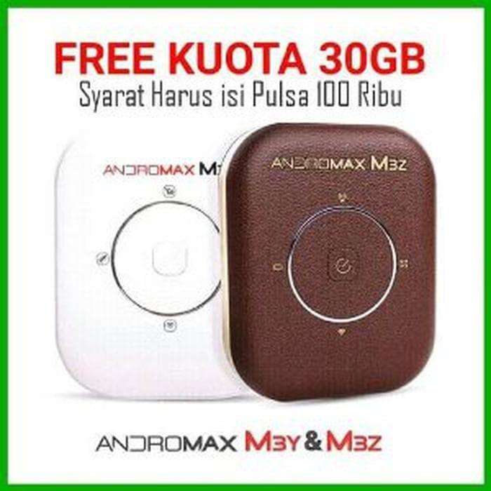 Modem WiFi MiFi Smartfren Andromax M3Y 4G LTE KUOTA 30 GB Kmp:12289