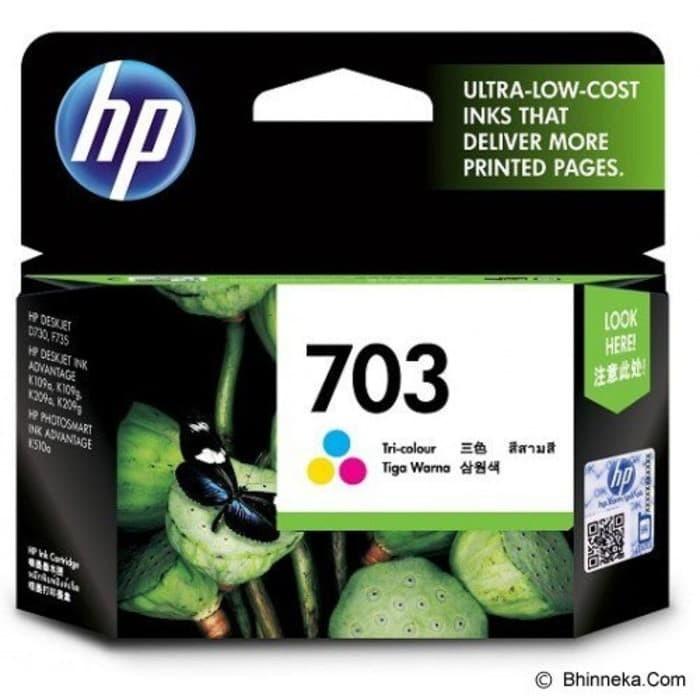 HP Tri-Color Ink Cartridge 703 100% Original Diskon