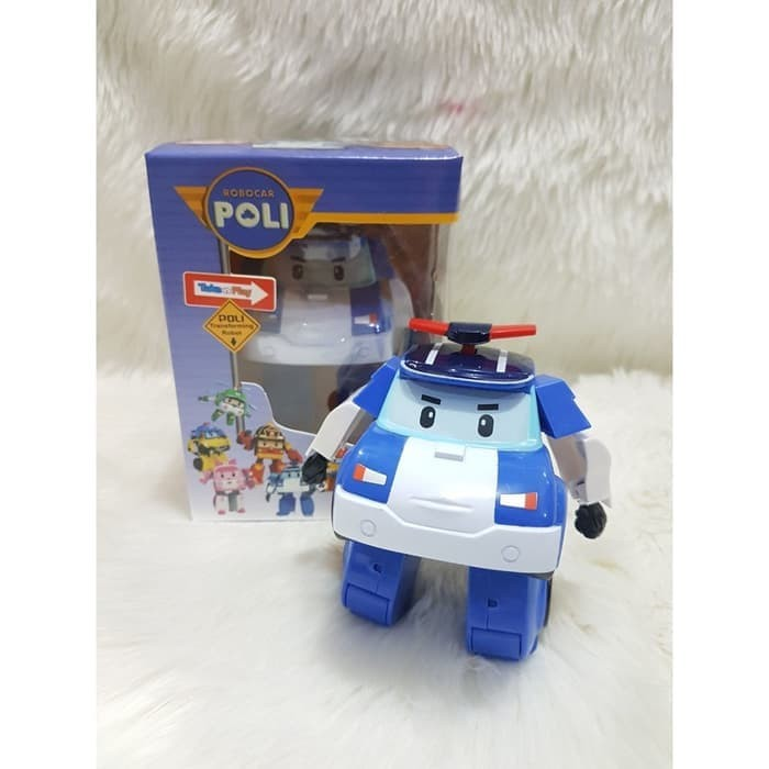 Mainan Poli Robocar 4in1 Set Transform Mobil Robot