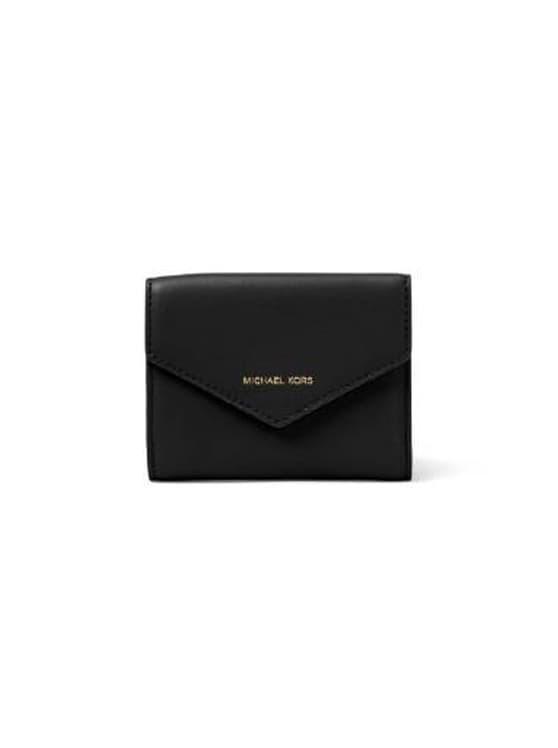 d1066163500eca Jual Michael Kors Small Leather Envelope Wallet Black - Preloved by ...