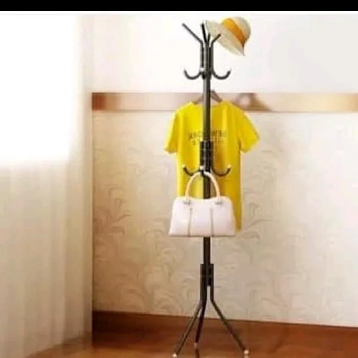 Rumah tangga / Stand Hanger Gantungan Baju Pakaian Topi Tas Jaket - Putih
