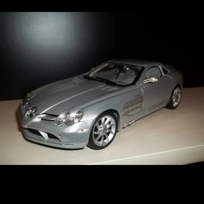 Mercedes Benz Slr Mclaren >> Jual Mercedes Benz Slr Mclaren Skala 1 18 Warna Silver Merek Maisto Yudiyu Tokopedia