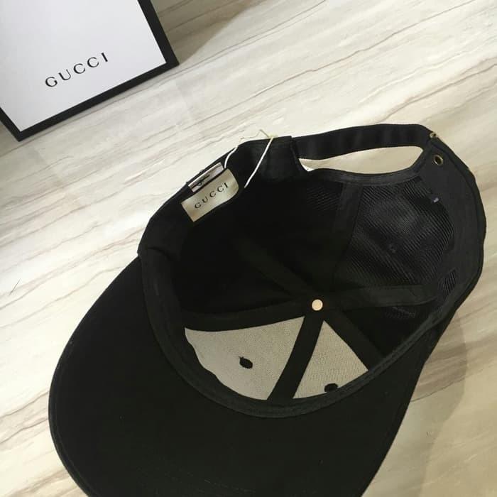 f5238bc2762bc8 Jual GUCCI BEE CAP BLACK MIRROR 1:1 QLTY MADE IN HONGKONG!! - Kota ...