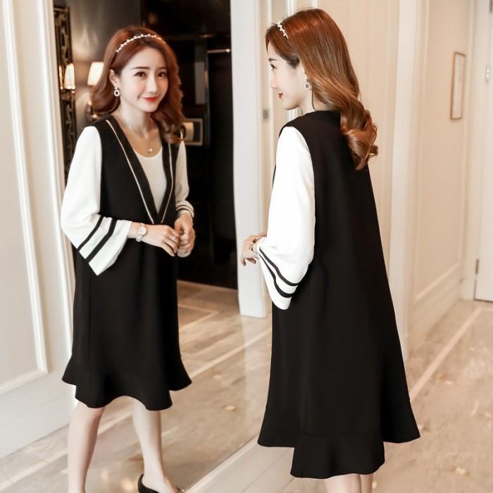 Jual Dress Model Longgar Versi Korea Untuk Musim Semi Panas Gen