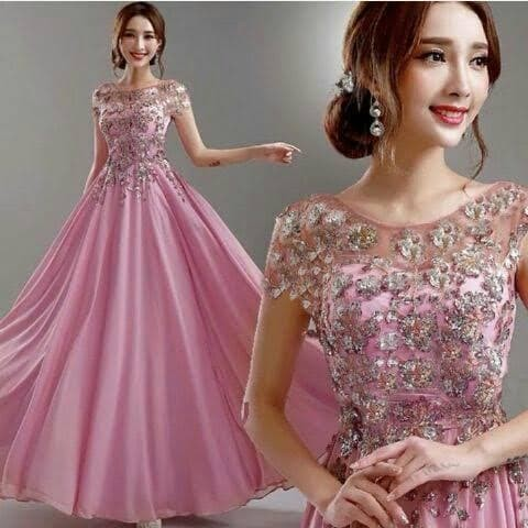 Jual Baju Gaun Long Dress Pesta Model Terbaru Kota Palembang