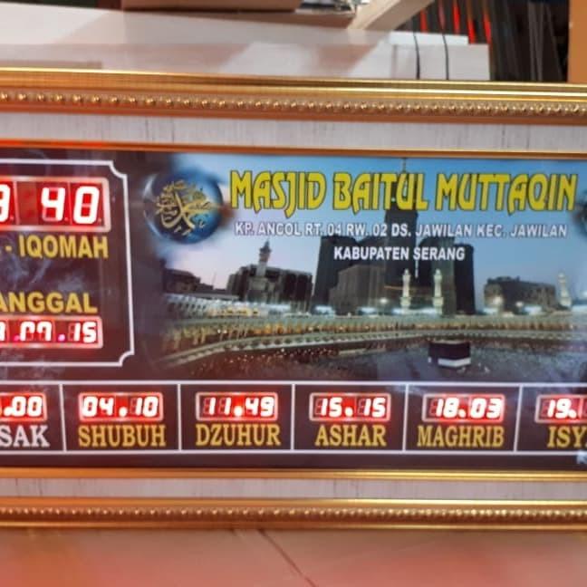 Jual Jam Sholat Digital Masjid 30x70 Full Bingkai Kota Bandung