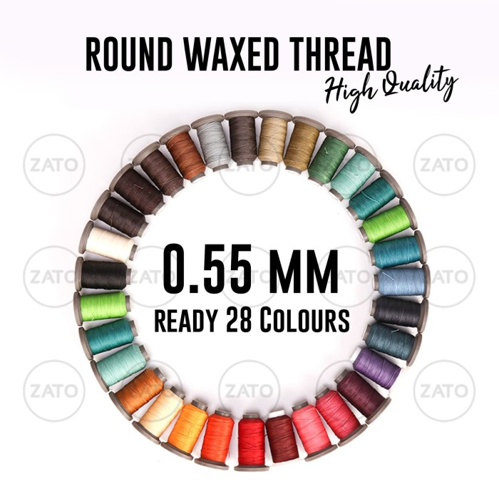 Foto Produk 0,55 mm ZATO New Waxed Leather Thread HIGH QUALITY Benang Jahit Kulit dari ZATO INDONESIA