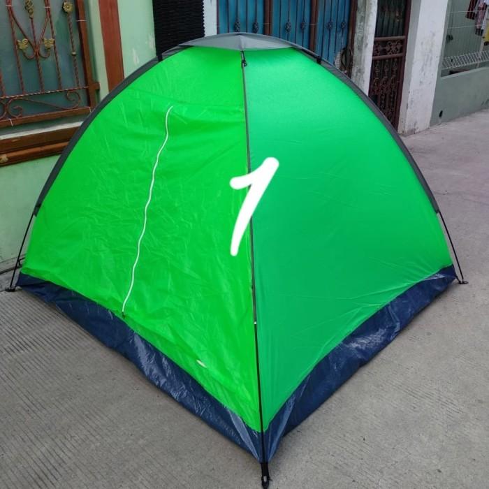 tenda camping kemping dome 4 orang size 210 X 210 X 130 cm alas terpal
