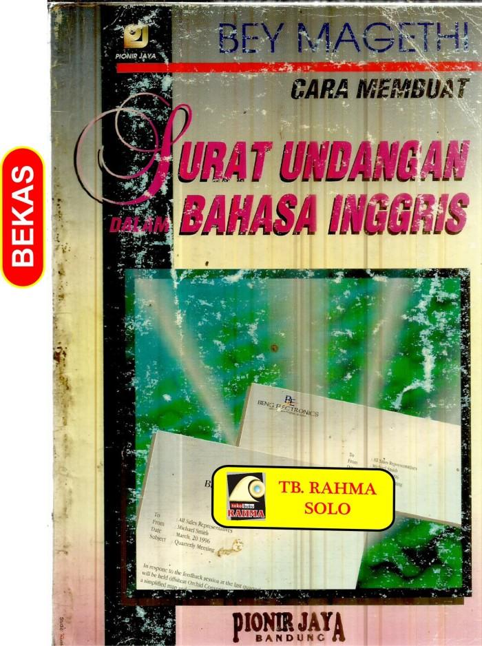 Jual Cara Membuat Surat Undangan Dalam Bahasa Inggris Tp 12175 Kota Yogyakarta Toko Buku Rahma Tokopedia