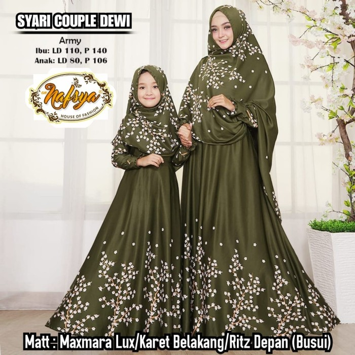 ... harga Gamis syari couple dewi syari set maxmara baju gamis ibu dan anak  Tokopedia. 2de1201a42