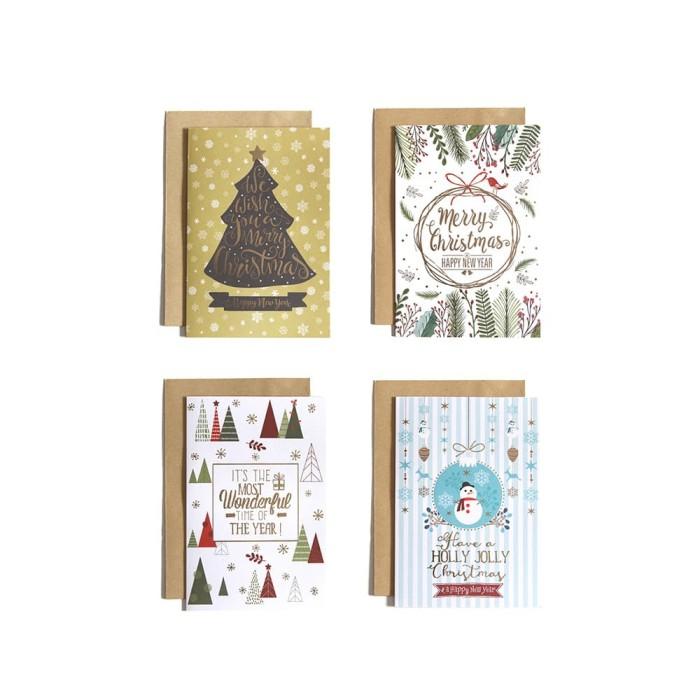 harga Paket isi 4 kartu natal / christmas card harvest - happy b Tokopedia.com