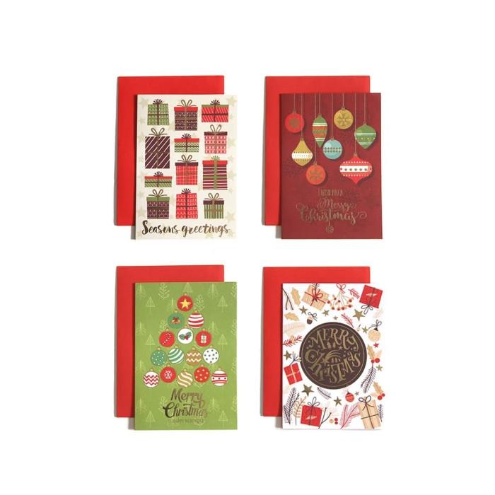 harga Paket isi 4 kartu natal / christmas card harvest - jolly b Tokopedia.com