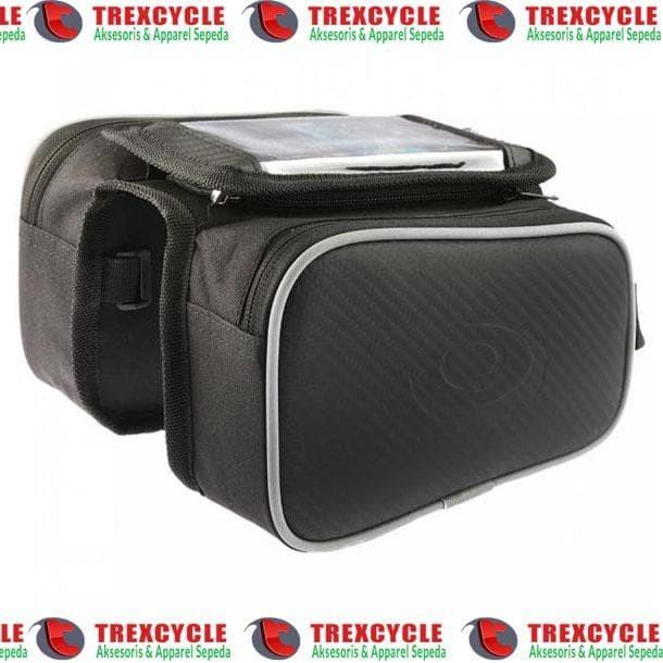 Tas Frame Sepeda Rsw Dengan Tempat Handphone 5.5 Inch - Blanja.com
