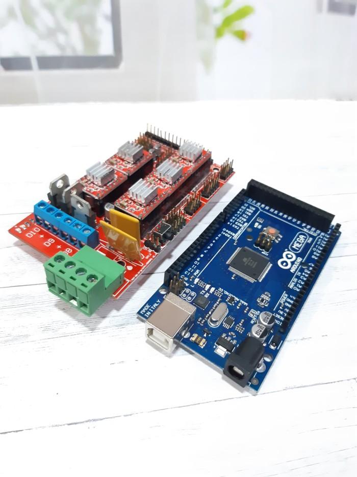Jual Arduino Mega 2560 + RAMPS 1 4 CNC SHield + 5 Driver A4988 3D Printer -  Kota Bekasi - RAJACELL BEKASI | Tokopedia