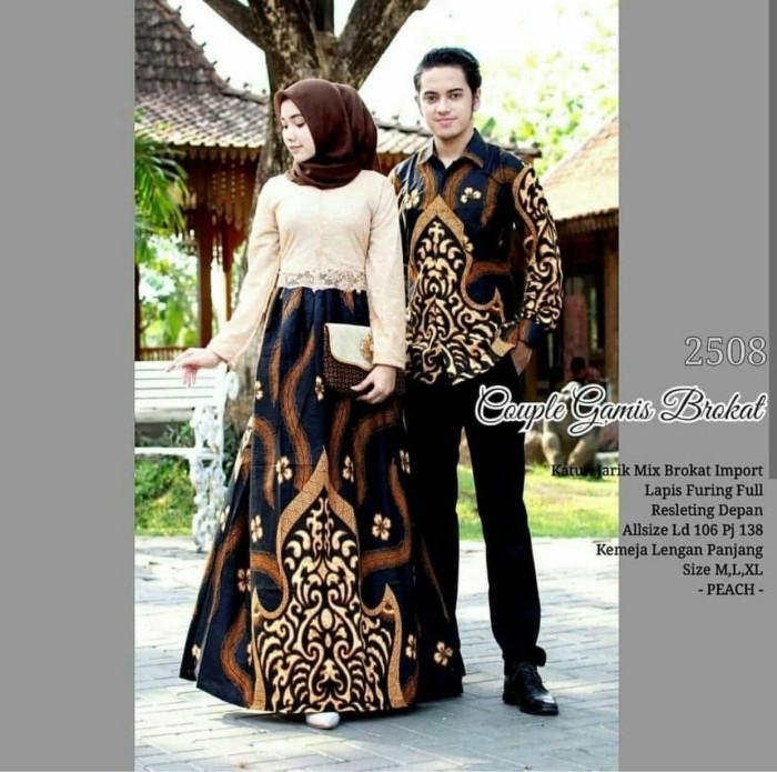 Gamis Batik Kombinasi Brokat Terbaru Nusagates
