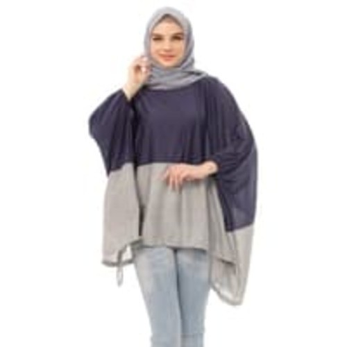 Mybamus two tone wings top navy gray m14250 r71s1