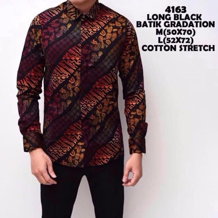 Jual Model Baru Kemeja Batik Pria Lengan Panjang Baju Batik Cowok Dki Jakarta Putri Aaminah Tokopedia