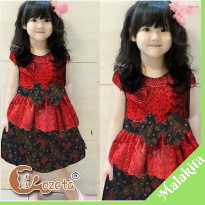 Jual Baju Dress Anak Perempuan Import Dress Batik Anak Cewek Dki Jakarta Malakita Tokopedia