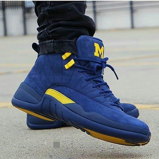 """9e6d57b3d7533c Jual Nike Air Jordan Retro 12 """" Michigan """" premium original - Kota ..."""