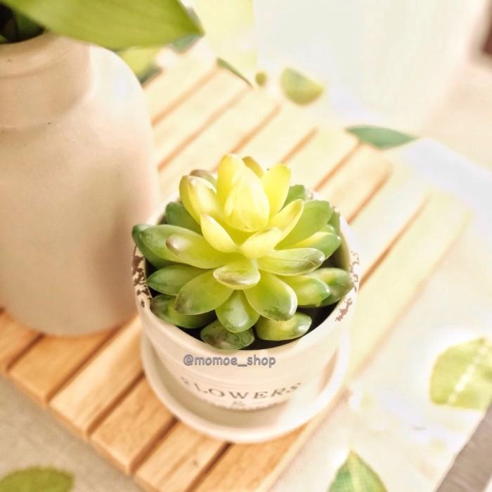 0216da04681 Pot Vase Keramik Bunga Artificial Hiasan Rumah Tanaman Teratai Tiruan