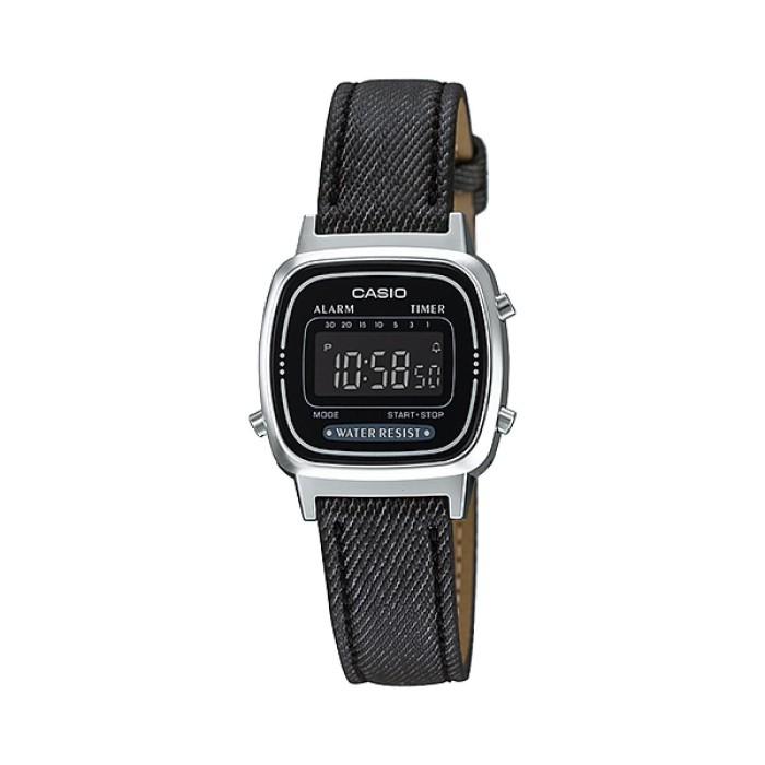 harga Casio la670wl-1bdf - jam tangan wanita - denim hitam Tokopedia.com