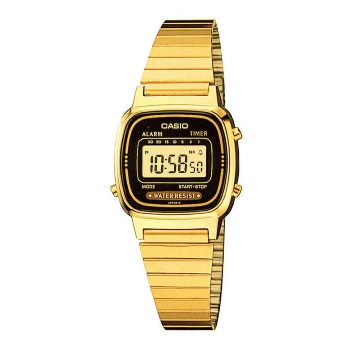 harga Casio la670wga-1df - jam tangan wanita - gold Tokopedia.com