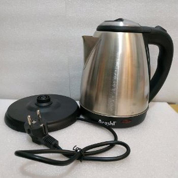 teko listrik stainless electric kettle arashi ake s1503 aneka per