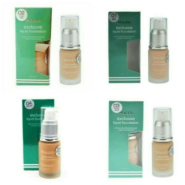 Wardah Exclusive Liquid Foundation 20 ml - FREE SALISA BABY FACE SOAP - sandy beige