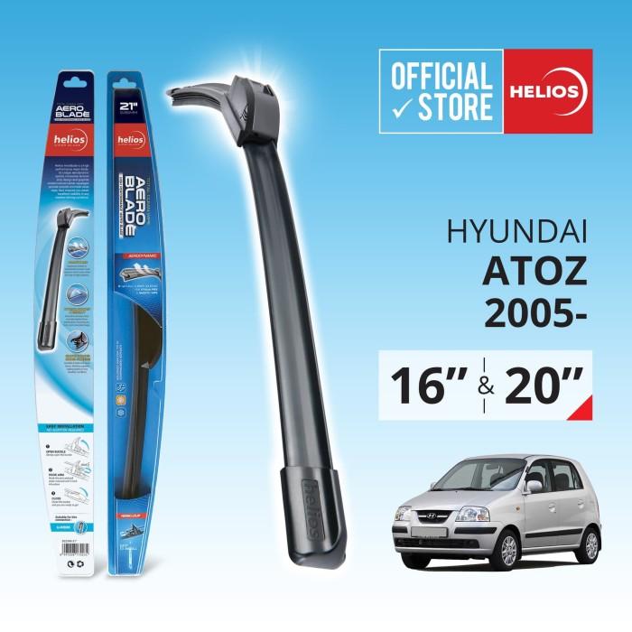harga Wiper hyundai atoz (2 pcs) thn. 2005 ke atas uk. 16  & 20  helios Tokopedia.com