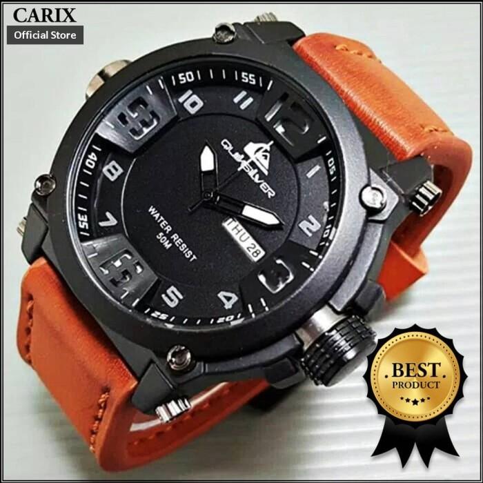 harga Jam tangan pria kulit tanggal hari kualitas premium swiss army Tokopedia.com