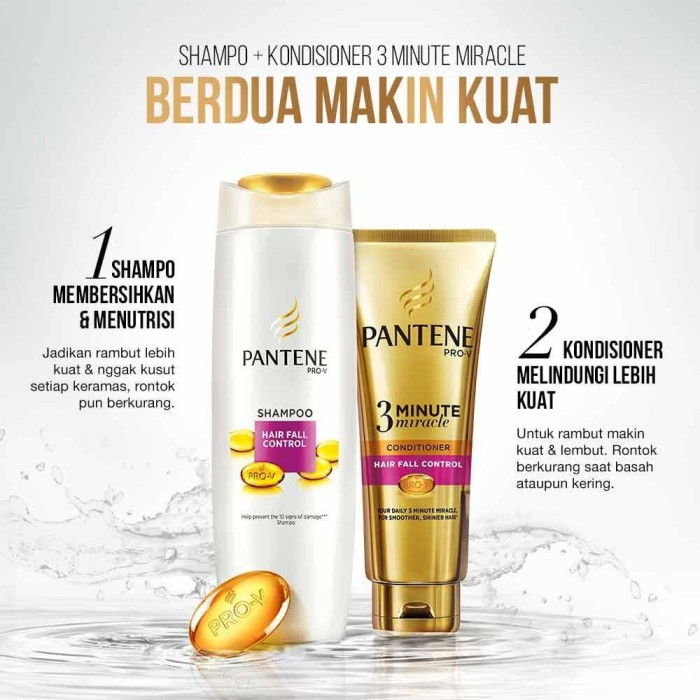 Paling Murah Pantene Shampoo Hair Fall Control 480Ml Free Pantene