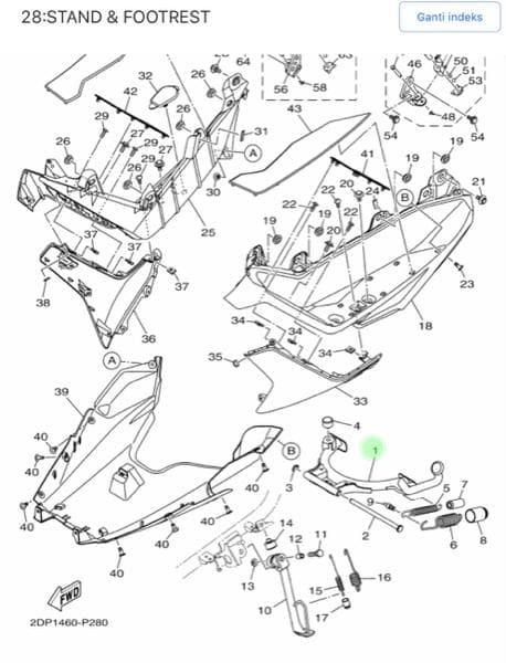 Standar Tengah Nmax Asli Yamaha 2dp F7111 00