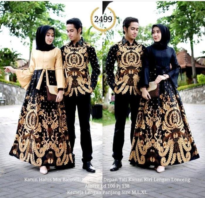64 Gaya Baju Batik Couple Gamis Anak Muda Paling Keren