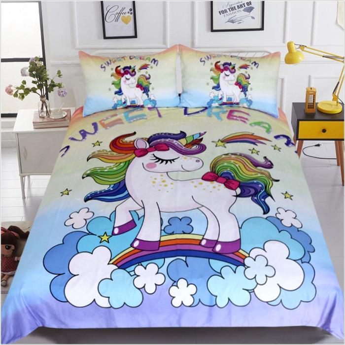 Jual Bed Cover Unicorn 3d Lucu Kuda Poni Tempat Tidur Anak Cantik