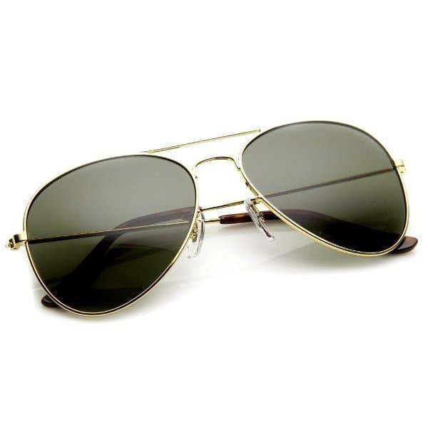 Jual Aviator Sunglasses Gold Frame Black Lens - Kacamata Pria dan ... 9ad39d3746