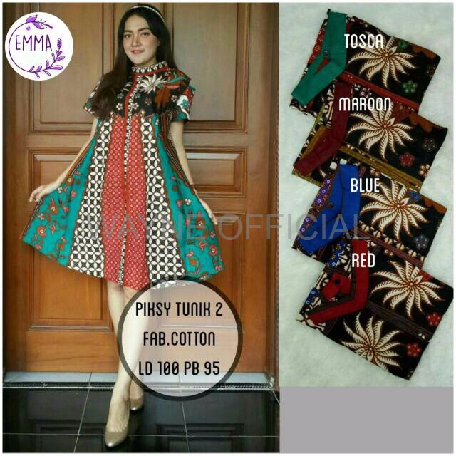 Dress Batik Piksy Tunik 2 Mihika Dress Batik Sogan Modern Long Dress