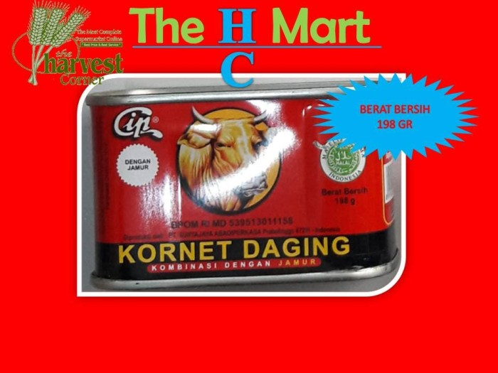 harga Cip kornet daging sapi musrom 198 gr - min.order 3 klg Tokopedia.com