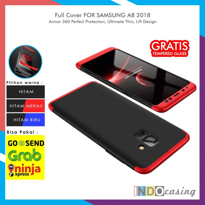 Jual Case Samsung Galaxy A8 2018 Armor 360 Protection Full Cover