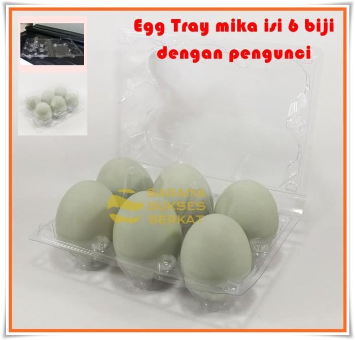 Foto Produk Egg Tray - Tray Telur Mika Isi 6 Butir Dengan Pengunci dari Sarana Sukses Berkat