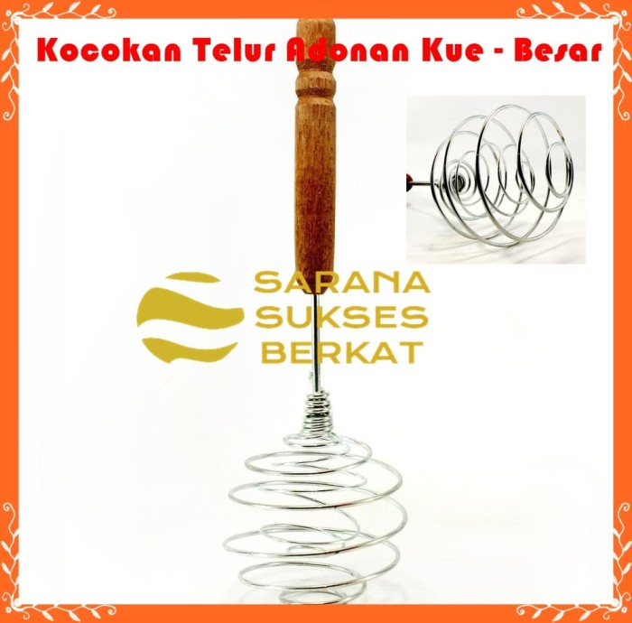 Foto Produk Alat Aduk Mini Manual - Whisk Kocokan Telur Adonan Kue - Besar dari Sarana Sukses Berkat