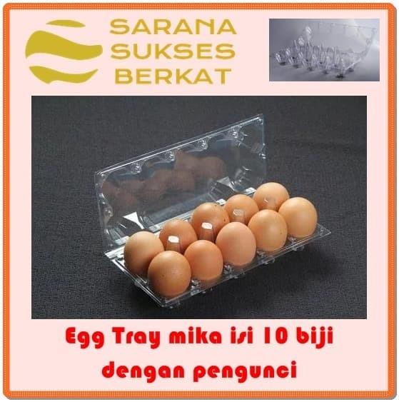 Foto Produk Egg Tray - Tray telur - mika isi 10 butir dengan pengunci dari Sarana Sukses Berkat